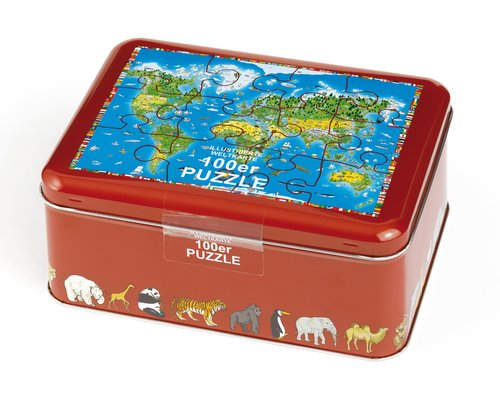 Child's World Map / Jigsaw puzzle (French edtion)