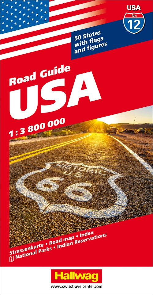 USA Road map with e-Distoguide