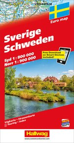 Sweden Road map with Free Download on Smartphone
