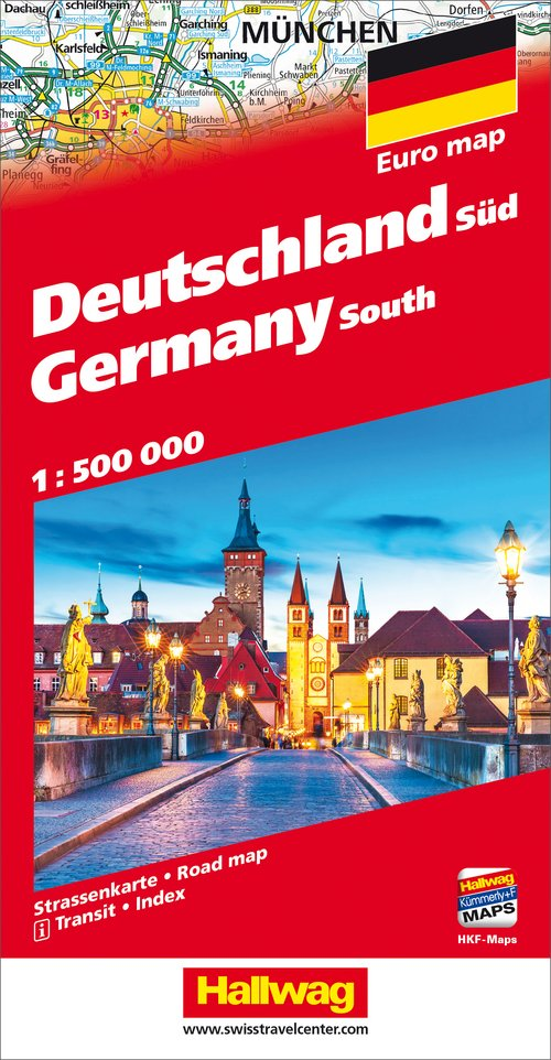 Germany South Road map with Free Download on Smartphone