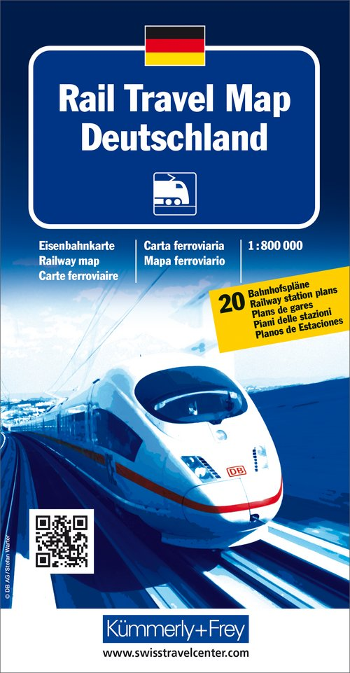 Rail Travel Map Germany