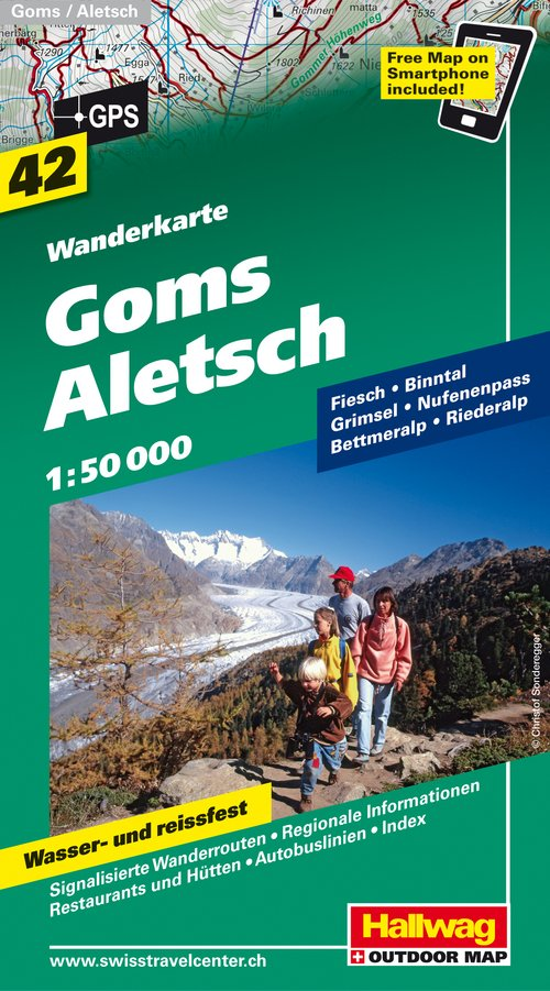 42 Goms - Aletsch / incl. Free Map on Smartphone