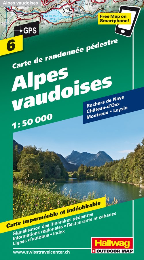 6 Alpes vaudoises / incl. Free Map on Smartphone