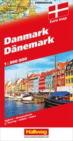 Denmark Road map with e-Distoguide