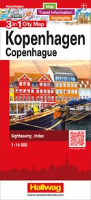 Copenhague 3 in 1 City Map 1:14 000