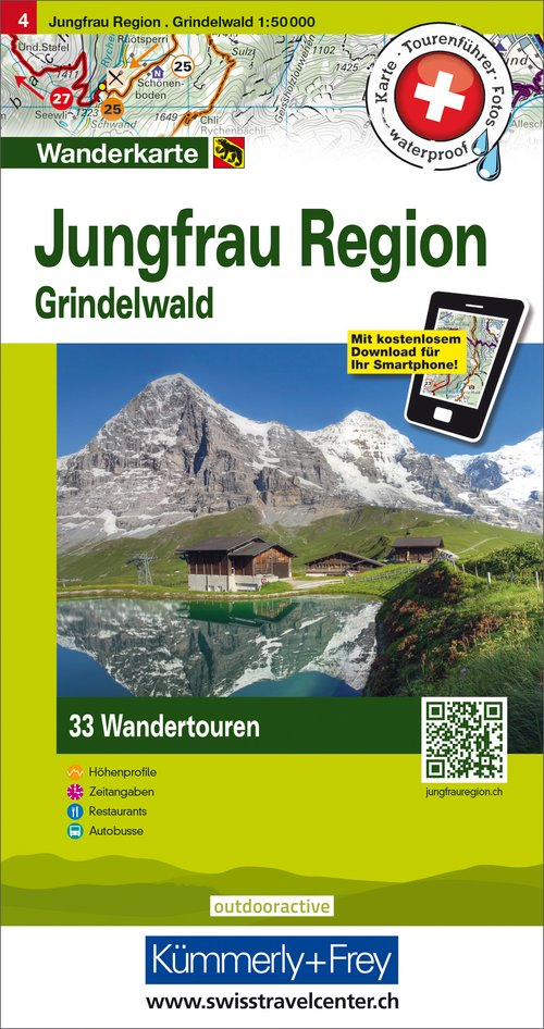 4 Jungfrau Region, Grindelwald 1:50'000 German Edition