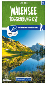 15 Walensee - Toggenburg Ost 1:40 000