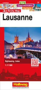 Lausanne 3 in 1 City Map 1:11 500