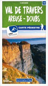 16 Val-de-Travers / Areuse - Doubs 1:40 000