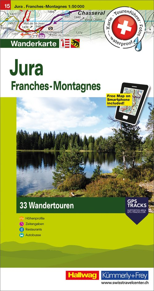 15 Jura - Franches-Montagnes 1:50'000 german/french