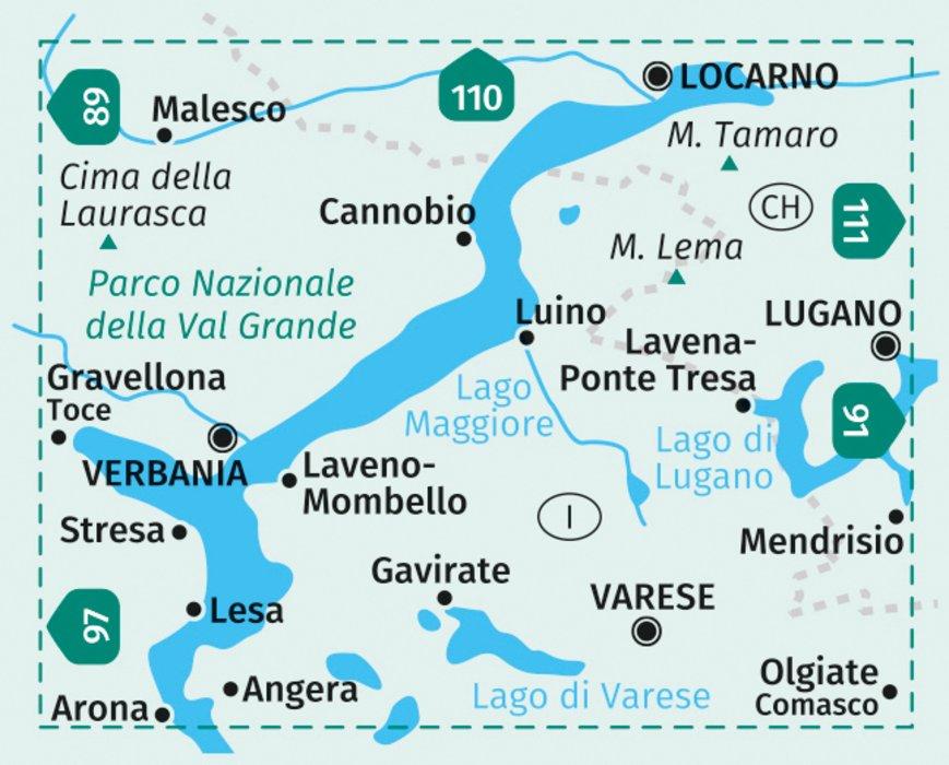 Verbania Lago Maggiore Karte.Kompass Wanderkarte Lago Maggiore Lago Di Varese