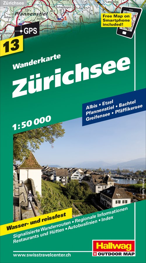 13 Lake Zurich incl. Freemap on Smartphone