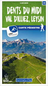 39 Dents du Midi, Val d'Illiez, Leysin 1:40 000
