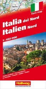 Italy North Road map with e-Distoguide