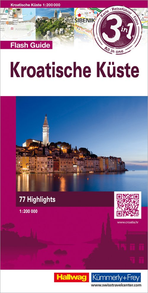 Croatian Coast 1:200 000 Flash Guide  d/e