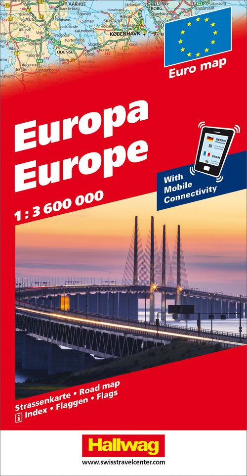 Europe Road map with e-Distoguide