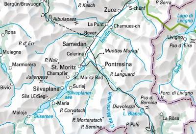 engadin karte 11 Engadin St. Moritz   Swisstravelcenter   Hallwag Kümmerly+Frey